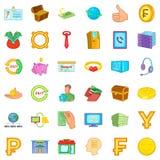 Finance icons set, cartoon style. Finance icons set. Cartoon style of 36 finance vector icons for web isolated on white background Stock Photo