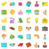 Finance icons set, cartoon style. Finance icons set. Cartoon style of 36 finance vector icons for web isolated on white background Stock Images
