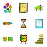 Finance icons set, cartoon style Stock Image