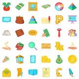 Finance icons set, cartoon style. Finance icons set. Cartoon style of 36 finance vector icons for web isolated on white background Stock Photos