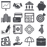 Finance icons. Icons set about finance concept Royalty Free Stock Photos