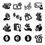 Finance   icons set Stock Image