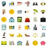 Finance icons set, flat style. Finance icons set. Flat style of 36 finance vector icons for web isolated on white background Stock Image