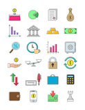 Finance icons set. Set of 24 funance icons Stock Photography
