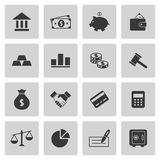 Finance icons set. On gray. Vector illustration Stock Image
