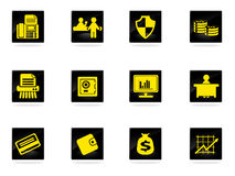 Finance Icons set Royalty Free Stock Photography