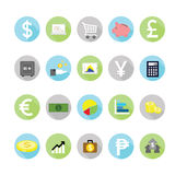 Finance icons set. Royalty Free Stock Photo