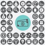 Finance icons set. Illustration eps10 Stock Photos