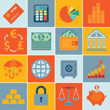 Finance icons, set infographics. Vector illustration. Conceptual illustration Royalty Free Stock Images