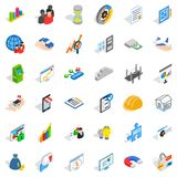 Finance icons set, isometric style Stock Photo