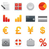 Finance Icons Set | Red Serie 01 Royalty Free Stock Images