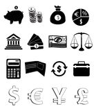 Finance Icons. Set of finance related icon set on white background Royalty Free Stock Photography