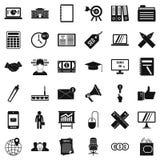 Finance icons set, simle style. Finance icons set. Simple style of 36 finance vector icons for web isolated on white background Royalty Free Stock Image