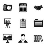 Finance icons set, simple style Royalty Free Stock Image