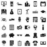 Finance icons set, simple style. Finance icons set. Simple style of 36 finance vector icons for web isolated on white background Royalty Free Stock Images