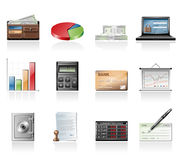 Finance icons Stock Photos