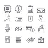 Finance Icons. Set vector collection Stock Image