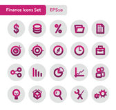 Finance icons set Royalty Free Stock Image