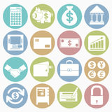 Finance icons set Stock Image