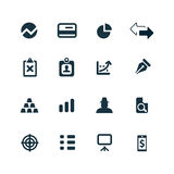 Finance icons set Stock Photos