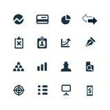 Finance icons set. On white background Stock Photos