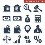 Finance icons set on white background. Vector illustration Stock Images