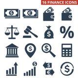 Finance icons set on white background. Vector illustration Royalty Free Stock Image