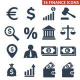 Finance icons set on white background. Vector illustration Stock Photo