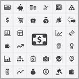 Finance icons universal set. For web and mobile Royalty Free Stock Photos