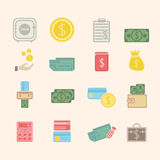 Finance Icons. Vector eps 10 Royalty Free Stock Photography