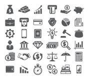 Finance Icons on white Stock Image