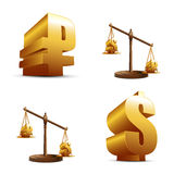Finance icons. On a white background Stock Images