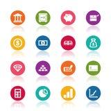 Finance icons. On white background Stock Photo
