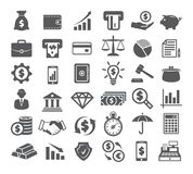 Finance Icons on white. Background Royalty Free Stock Photography