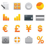 Finance Icons | Yellow 04. Professional set for your website, application, or presentation Stock Illustration