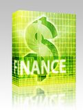 Finance illustration box package Stock Photography