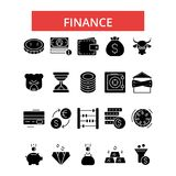 Finance illustration, thin line icons, linear flat signs, vector symbols. Finance illustration, thin line icons, linear flat signs, outline pictograms, vector Stock Images
