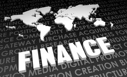 Finance. Industry Global Standard on 3D Map Royalty Free Stock Photography