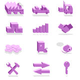 Finance and Industry violet icons Royalty Free Stock Photos