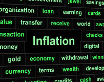 Finance Inflation Means Investment Growing And Earnings. Finance Inflation Showing Commerce Finances And Rise Stock Images
