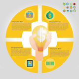 Finance infographic element. Finance infographic  icon  element Royalty Free Stock Photography
