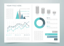 Finance Infographic Page 1 Royalty Free Stock Photo
