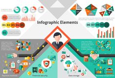 Finance infographic set Stock Photography