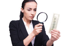 Finance inspector. Stock Photos