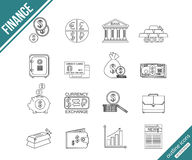 Finance and investing outline icons set Royalty Free Stock Photography