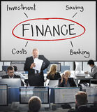 Finance Investment Banking Cost Concept. Finance Investment Banking Savings Concept royalty free stock photos