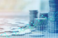 Finance and Investment concept. Money management and Financial chart.blur focus Stock Photography