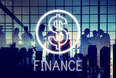 Finance Investment Money Cash Icons Graphics Concept. Business People Discuss Finance Investment Money Royalty Free Stock Photo