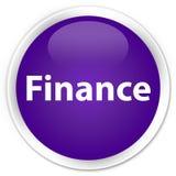 Finance premium purple round button. Finance isolated on premium purple round button abstract illustration Royalty Free Stock Images
