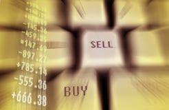 Finance keyboard Stock Photography